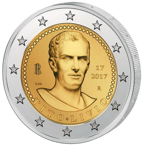 2 Euro Italien 2000 .Todestag von Titus Livius 2017