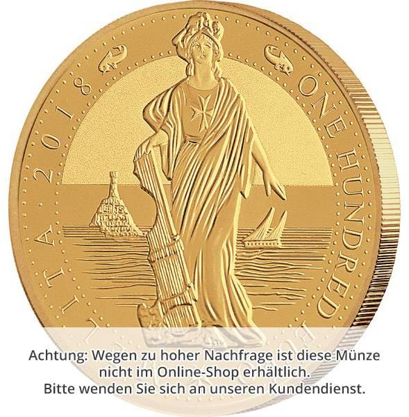 1 Unze Gold Malta Melita 2018