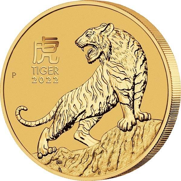 1 Unze Gold Australien Jahr des Tiger 2022