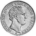 Ausbeutetaler Silber Friedrich August II. 1841-1844 Sehr schön
