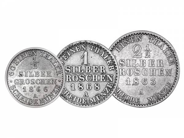 1/2 - 2 1/2 Groschen Preußen Wilhelm I. 1861-1871