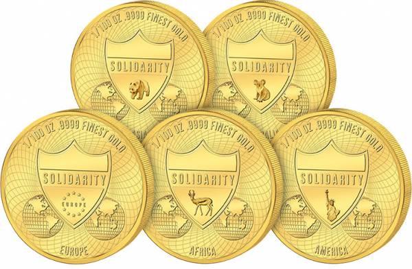 5 x 100 Francs Mali Solidarität-Edition 2020