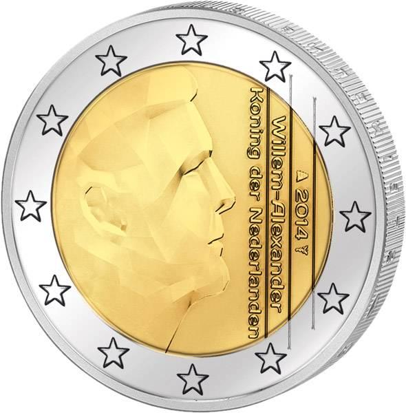 2 Euro Kursmünze Niederlande Willem-Alexander 2014 prägefrisch