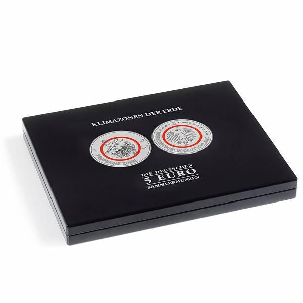 Münzkassette für 25 x 5-Euro-Münzen Klimazonen der Erde