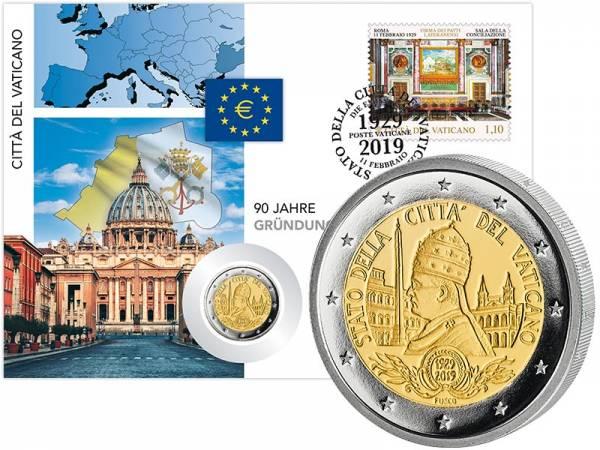 2 Euro Numisbrief Vatikan 90 Jahre Vatikanstaat