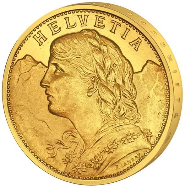 20 Franken Schweiz Vreneli 1897-1949   Stempelglanz