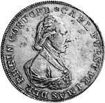 Konventionstaler Silber Carl von Dalberg 1809 Vorzüglich