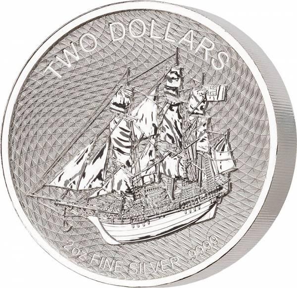 2 Unzen Silber Cook-Inseln Bounty 2020