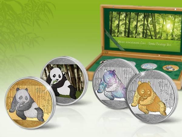 Silver Investment Coin Prestige-Set Panda 2015 Stempelglanz