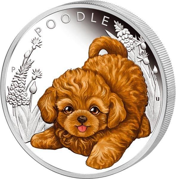50 Cents Tuvalu Hundewelpen Pudel 2018