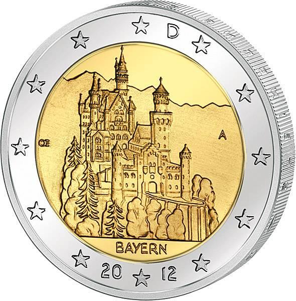 2 Euro BRD Bayern Schloss Neuschwanstein 2012