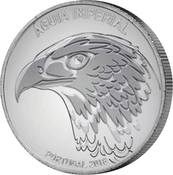 5 Euro Portugal Östlicher Kaiseradler 2018 - FOTOMUSTER