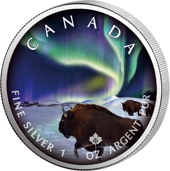 5 Dollars Kanada Maple Leaf Wood-Buffalo-Park 2020