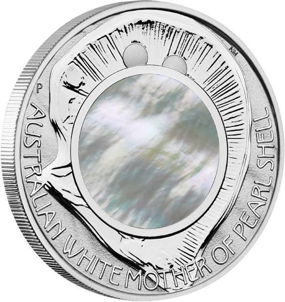 1 Dollar Australien Mutter der Perlen 2015 Polierte Platte