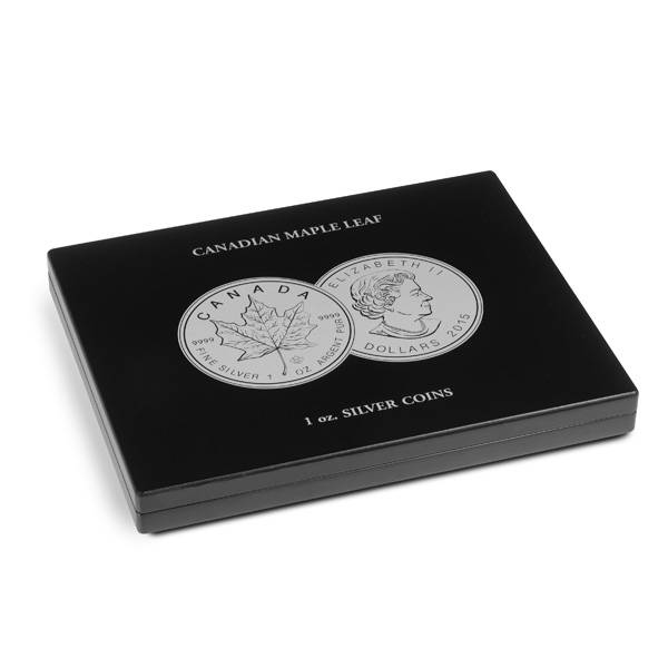 Münzkasette für 20 Silbermünzen Maple Leaf