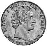 Geschichtstaler Ludwig I. 30.000 Gefallene Bayern 1833  vorzüglich
