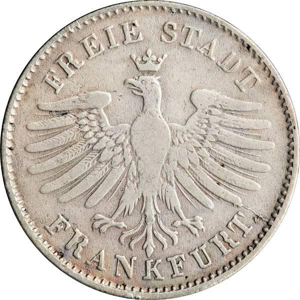 6 Kreuzer Freie Reichsstadt Frankfurt 1838-1846