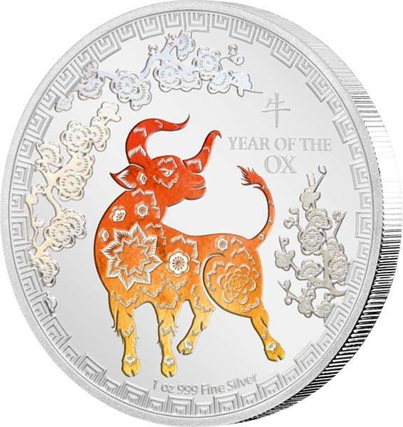2 Dollars Niue Jahr des Ochsen 2021