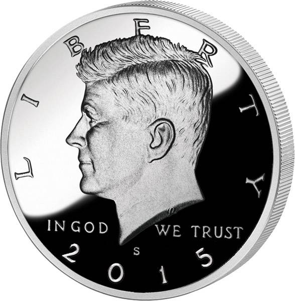1/2 Dollar USA John F. Kennedy 2015