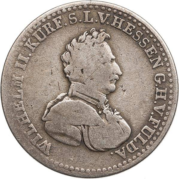 1/6 Taler Kurfürst Wilhelm II 1823 - 1831
