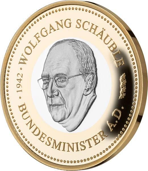 Gedenkprägung Wolfgang Schäuble
