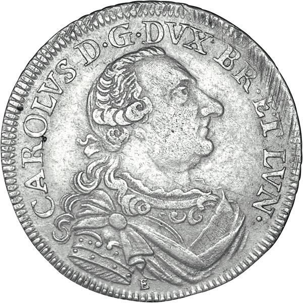 2/3 Taler Herzog Karl I. (Nasenkarl) 1735-1780 sehr schön