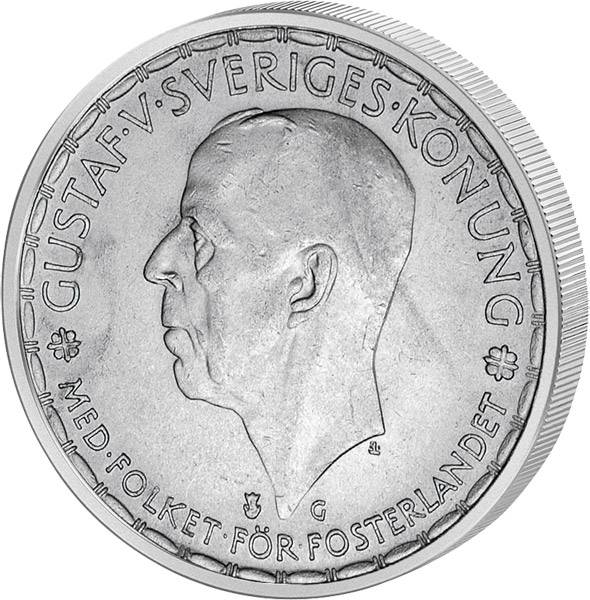 2 Kronen Schweden König Gustaf V. 1942-1950