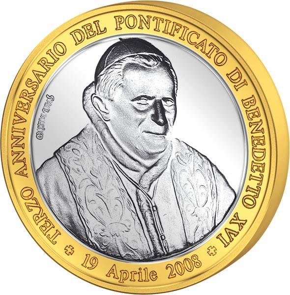 Gedenkprägung 3. Pontifikatsjahr