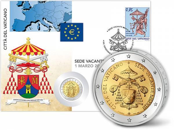 2 Euro Numisbrief Vatikan Sedisvakanz 2013 - FOTOMUSTER