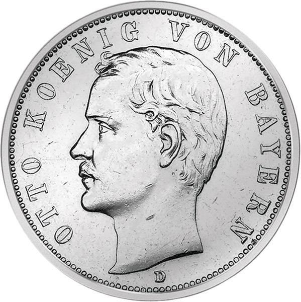 2 Mark Bayern Otto 1891-1913 Sehr schön