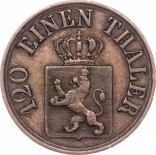 3 Heller Hessen-Kassel Kurfürst Friedrich Wilhelm I. 1848 - 1866