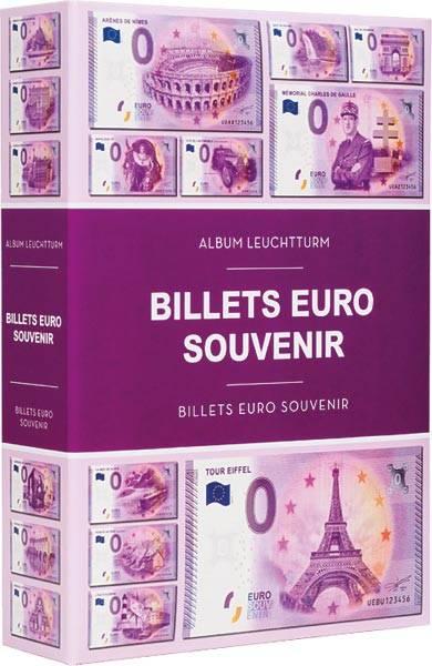Banknotenalbum für 420 Souvenir-Banknoten mit 70 fest eingebundenen Hüllen