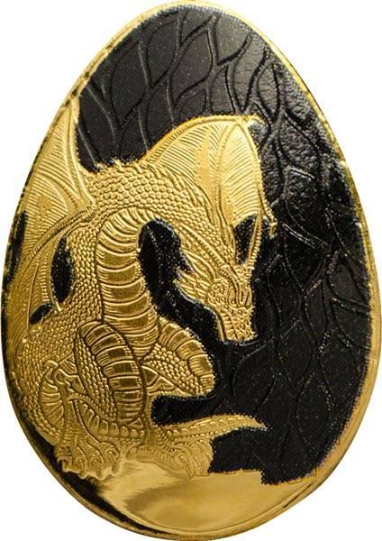 1 Dollar Palau Goldenes Drachen-Ei 2018