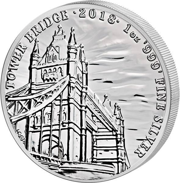 1 Unze Silber Großbritannien Tower Bridge 2018