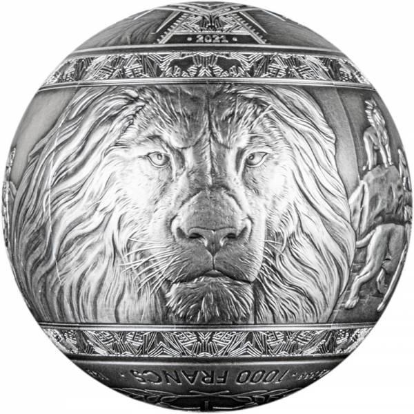 1 Kilo Silber Dschibuti Big Five Löwe 2021
