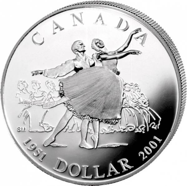 1 Dollar  Kanada 50 Jahre Nationalballett 2001  Prooflike