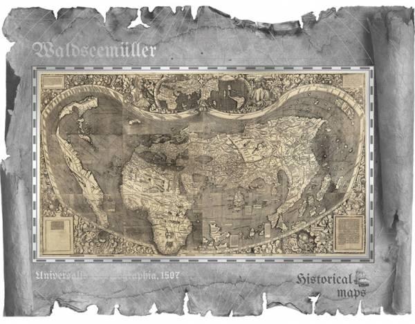 5 Dollars Cook-Inseln Waldseemüller-Karte 2018