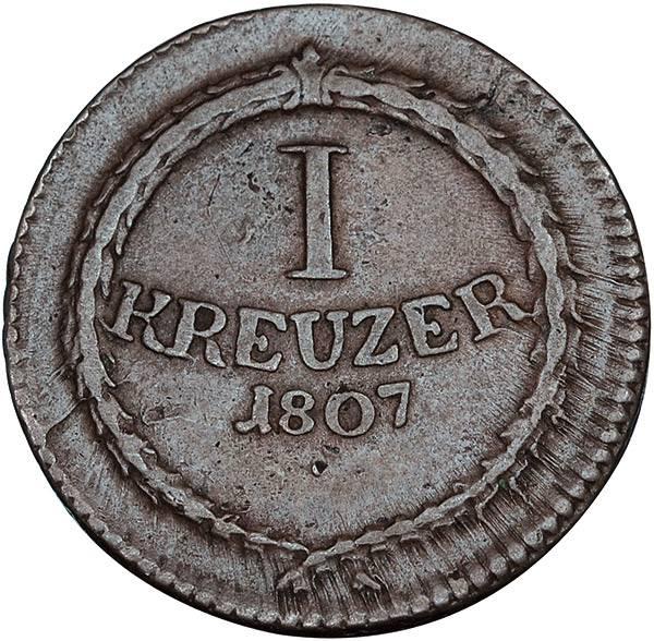 1 Kreuzer Baden Kurfürst Karl Friedrich
