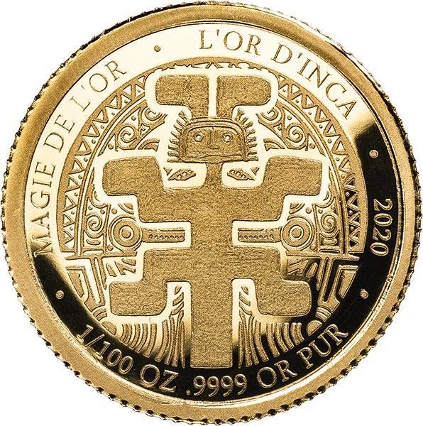 100 Francs Kongo Gold der Inka 2020