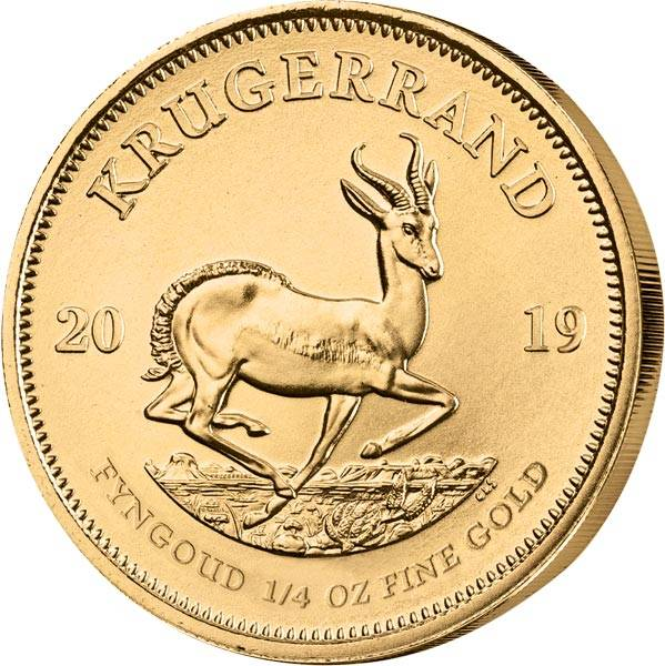 1/4 Unze Gold Südafrika Krügerrand 2019