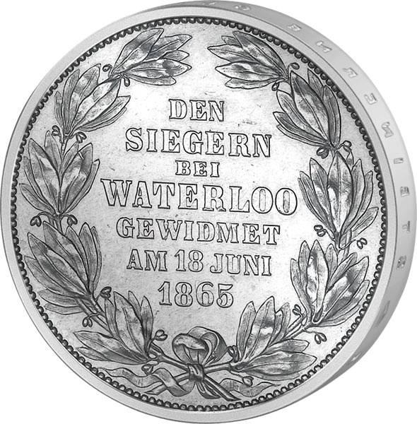 Taler Vereinstaler Waterloo 1865 vorzüglich