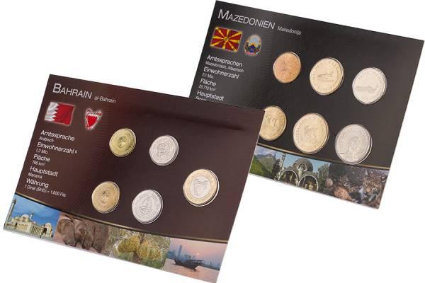 Kursmünzen-Set Mazedonien und Bahrain