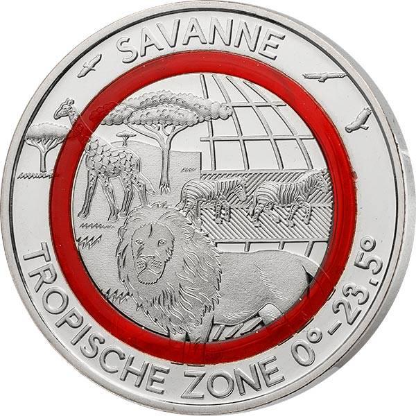 Gedenkprägung Tropische Zone Savanne