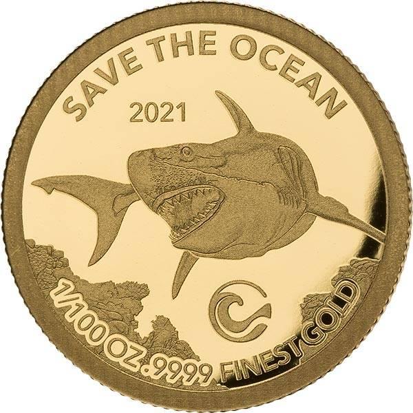 1 Pound Gibraltar Weißer Hai 2021