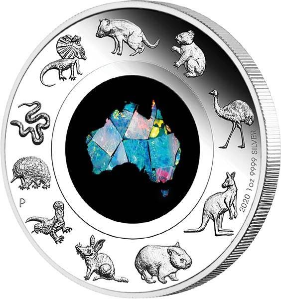 1 Dollar Australien Opal-Serie Südliches Land 2020