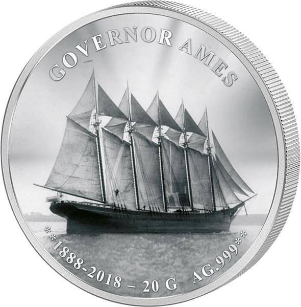 1.000 Francs Benin Frachtschiff Governor Ames 2018