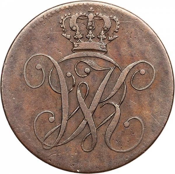 2 Heller Hessen-Kassel Kurfürst Wilhelm II. 1831 + 1833
