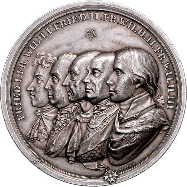 Silbermedaille König Friedrich Wilhelm III. 100-jähriges Bestehen des Königreiches