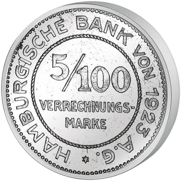 5/100 Mark Notgeld Freie und Hansestadt Hamburg o.J. ss-vz