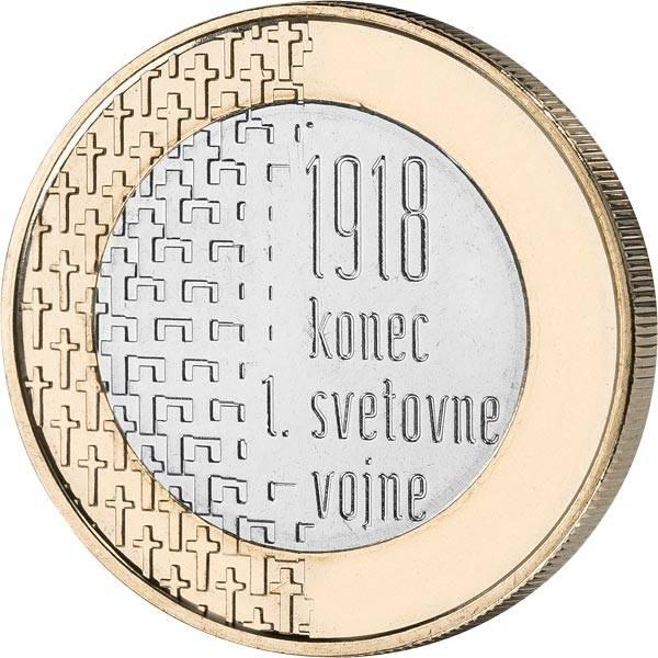 3 Euro Slowenien 100 Jahre Ende des Ersten Weltkriegs 2018